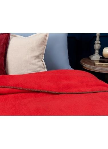 Madame Coco Étoile Düz Pamuklu Tek Kişilik Battaniye - Rot Kırmızı Kırmızı